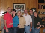 My family: son, Drew; daughter-in-law, Lindsay; wife, Kelly; me; son-in-law, Ryan; daughter, Adrianne.