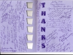 Inside of card given to the Reunion Committee - what nice comments!