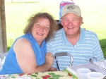 Debbie Douvier and Jerry Verstegen at Sunday Picnic