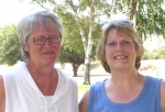 Sue Hogan Wright and Barb Sanders at Sunday Picnic