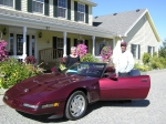 Barry George's 1993 Red Corvette.  Way to go Barry!