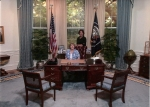 Barb & Janie in the Oval Office (Bush Presidential Library, Bryan, TX March 2010)